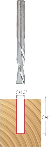 Freud 3//8 Down Spiral Bit with 1//2 Shank Dia. 76-306