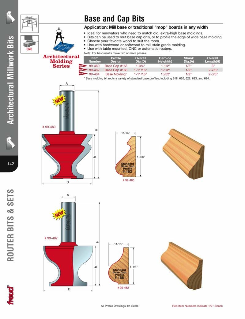 Freud 99 482 Base Cap 166 Router Bit 1 2 Quot Shank