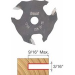 "[FREUD 56-110]   3/16"" 3-Wing Slot Cutter For 5/16 Router Arbor"