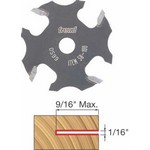 "[FREUD 58-100]   1/16"" 4-Wing Slot Cutter For 5/16 Router Arbor"