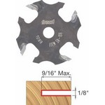 "[FREUD 58-108]   1/8"" 4-Wing Slot Cutter For 5/16 Router Arbor"