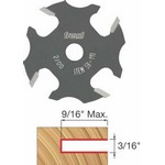 "[FREUD 58-110]   3/16"" 4-Wing Slot Cutter For 5/16 Router Arbor"