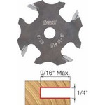 "[FREUD 58-112]   1/4"" 4-Wing Slot Cutter For 5/16 Router Arbor"