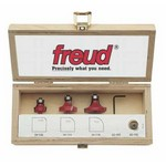 "[FREUD 89-100]   Three Piece Round Over/Beading Router Bit Set (1/4"" Shank)"