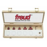 "[FREUD 89-102]   Five Piece Round Over/Beading Router Bit Set (1/4"" Shank)"