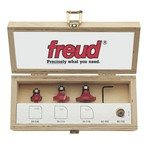 "[FREUD 89-150]   Three Piece Round Over/Beading Router Bit Set (1/2"" Shank)"