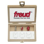 "[FREUD 89-400]   Four Piece Round Nose Router Bit Set (1/4"" Shank)"