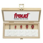 "[FREUD 89-402]   Five Piece Round Nose Router Bit Set (1/4"" Shank)"