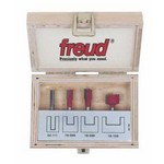 "[FREUD 90-106]   Four Piece Undersized Plywood Router Bit Set (1/4"" Shank)"