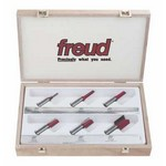 "[FREUD 91-102]   Six Piece Straight Router Bit Set (1/2"" Shank)"