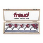 "[FREUD 91-104]   Six Piece Starter Router Bit Set (1/2"" Shank)"