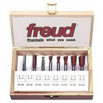 "[FREUD 96-100]   Eight Piece Dovetail Router Bit Set For Incra Jig (1/4"" Shank)"