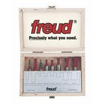 "[FREUD 96-102]   Eight Piece Dovetail Router Bit Set For Incra Jig (1/2"" Shank)"