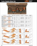 "[CMT 800.509.11]  Five Piece Complete Kitchen Ogee Raised Panel Router Bit Set With 1/2"" Shank"