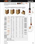 "[CMT 818.087.11B]  11/32"" Diameter 7 Degree X 13/32"" Cutting Length 2-Flute Top Bearing Dovetail Router Bit (1/4"" Shank)"