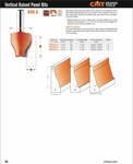 "[CMT 890.602.11]  1-1/2"" Diameter X 1-1/2"" Cutting Length 2-Flute Straight Angle Vertical Raised Panel Router Bit (1/2"" Shank)"