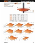 "[CMT 890.502.11]  3-1/4"" Diameter X 19/32"" Cutting Height 2-Flute Short 15  degree Straight Angle Raised Panel Router Bit (1/2"" Shank) (Profile B)"