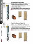 "[FREUD 76-508]  1/2"" Diameter X 1-1/4"" Height 2-Flute Flush Trim Downcut Spiral Router Bit (1/2"" Shank)"
