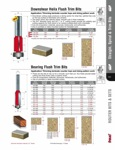 "[FREUD 42-310]  3/4"" Diameter X 1"" Height Downshear Helix Flush Trim Router Bit (1/2"" Shank)"