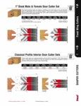 "[FREUD UP090] Classical Profile Interior Door Carbide Tipped Shaper Cutter Set (1-1/4"" Bore)"