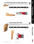 "[FREUD UP003]  Carbide Vertical Raised Panel Shaper Cutter 1-1/4"" Bore"