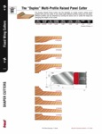 "[FREUD FD72M]  ""Duplex"" Multi-Profile Carbide Tipped Raised Panel Shaper Cutter (1-1/4"" Bore)"