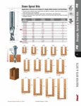 "[FREUD 76-308]  1/2"" Diameter X 1-5/8"" Height 3-Flute Down Spiral Router Bit (1/2"" Shank)"
