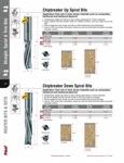 """[FREUD 75-510]  1/2"""" Diameter X 1-5/8"""" Height 2 Flute Chipbreaker Up Spiral Router Bit (1/2"""" Shank)"""