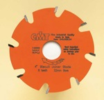 "[CMT 241.008.04]  4"" Diameter X 6T Flat Carbide-Tipped Biscuit Joiner Blade With 22mm Arbor (.157 Kerf)"