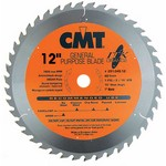 "[CMT 251.045.12]  12"" Diameter X 45T ATB Industrial Thin Kerf General Purpose Miter Saw Blade With 1"" Arbor (.110 Kerf)"