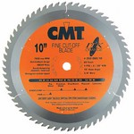"[CMT 252.060.10]  10"" Diameter X 60T ATB Industrial Thin Kerf Fine Cut-Off Saw Blade With 5/8"" Arbor (.098 Kerf)"
