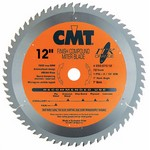 """[CMT 253.072.12]  12"""" Diameter X 72T ATB Industrial Thin Kerf Finish Compound Miter Saw Blade With 1"""" Arbor (.110 Kerf)"""