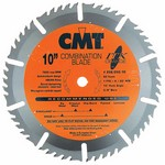 "[CMT 256.030.07-X10]  7-1/4"" Diameter X 30T ATB Industrial Thin Kerf Combination Table Saw Blade With 5/8"" Arbor (.075 Kerf) (10 Pcs)"