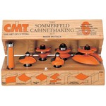"[CMT 800.515.11]  Six Piece Kitchen Cove Cabinetmaking Router Bit Set With 1/2"" Shank"