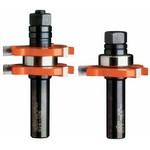 "[CMT 800.626.11]  1-7/8"" Diameter X 3/4"" Cutting Height 2-Flute Tongue And Groove Router Bit Set With 1/2"" Shank"
