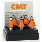 "[CMT 836.501.11]  5-Pc Chamfer Bit Set, 1/2"" Shank"