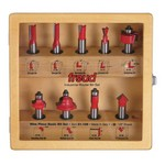 "[FREUD 91-108]  Nine Piece Basic Router Bit Set (1/2"" Shank)"
