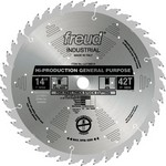 "[FREUD LU71M014] 14"" Diameter X 42T ATB Production General Purpose Carbide-Tipped Saw Blade With 1"" Arbor (.165 Kerf)"