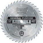 "[FREUD LU72M010] 10"" Diameter X 40T ATB General Purpose Carbide-Tipped Saw Blade With 5/8"" Arbor (.126 Kerf)"