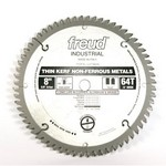 "[FREUD LU77M008] 8"" Diameter X 64T TCG Thin Kerf Non-Ferrous Metal Carbide-Tipped Saw Blade With 5/8"" Arbor (.083 Kerf)"