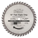"[FREUD LU81M010] 10"" Diameter X 40T TCG Heavy Duty Multipurpose Carbide-Tipped Saw Blade With 5/8"" Arbor (.126 Kerf)"