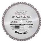 "[FREUD LU81M016] 16"" Diameter X 60T TCG Heavy Duty Multipurpose Carbide-Tipped Saw Blade With 1"" Arbor (.150 Kerf)"