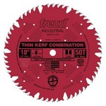 "[FREUD LU83R010] 10"" Diameter X 50T Comb Coated Thin Kerf Combination Carbide-Tipped Saw Blade With 5/8"" Arbor (.091 Kerf)"