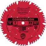 "[FREUD LU84R011]  10"" Diameter X 50T Comb Coated Combination Carbide-Tipped Saw Blade With 5/8"" Arbor (.126 Kerf)"