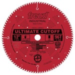 "[FREUD LU85R012] 12"" Diameter X 96T ATB Ultimate Cut-Off Carbide-Tipped Saw Blade With 1"" Arbor (.116 Kerf)"