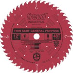 "[FREUD LU86R012] 12"" Diameter X 48T ATB Thin Kerf General Purpose Carbide Tipped Saw Blade With 1"" Arbor (.094 Kerf)"