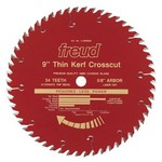 "[FREUD LU88R009]  9"" Diameter X 54T ATB Thin Kerf Fine Finish Crosscut Carbide-Tipped Saw Blade With 5/8"" Arbor (.090 Kerf)"
