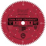 "[FREUD LU88R012]  12"" Diameter X 80T ATB Thin Kerf Fine Finish Crosscut Carbide-Tipped Saw Blade With 1"" Arbor (.094 Kerf)"
