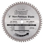 "[FREUD LU89M008] 8"" Diameter X 58T TCG Thick Non-Ferrous Metal Carbide-Tipped Saw Blade With 5/8"" Arbor (.122 Kerf)"