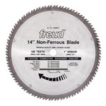 "[FREUD LU89M014] 14"" Diameter X 100T TCG Thick Non-Ferrous Metal Carbide-Tipped Saw Blade With 1"" Arbor (.142 Kerf)"